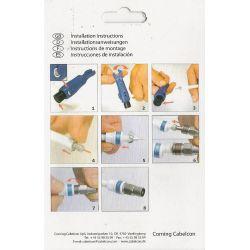 Kit autoinstalable conectores IEC Cabelcon + herramienta. RG6 5.1