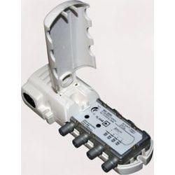 Amplificador interior de vivienda Televes 2S+TV con retorno pasivo a conectores F gama CATV (5-862 MHz)