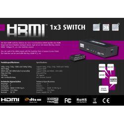 Switch HDMI 3x1 con mando a...