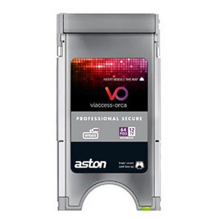 CAM PCMCIA Profesional Aston secure Viacces. 8 Canales 64 Pids