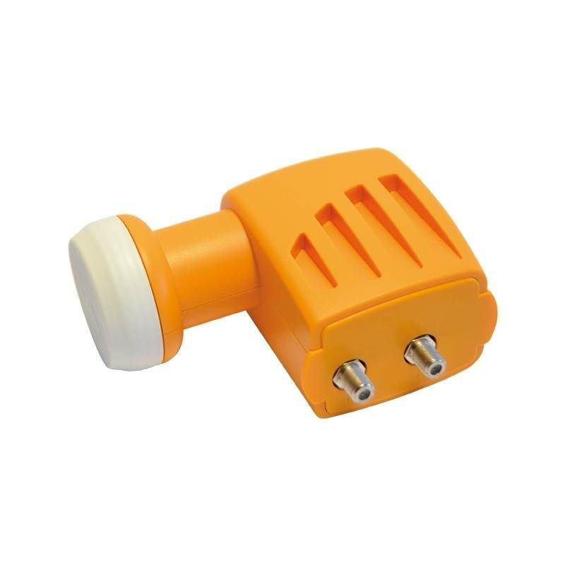 Conversor LNB TWIN H/V- H/V con bocina offset