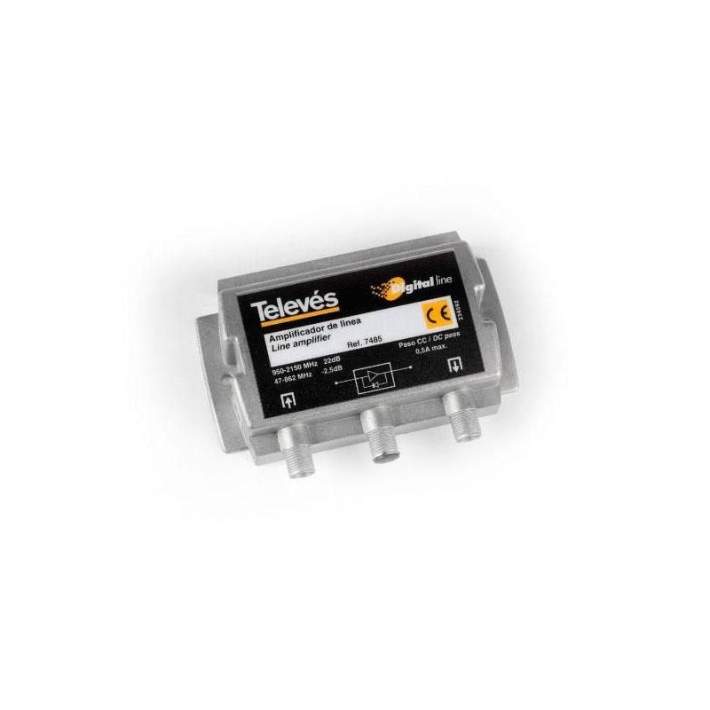 Amplificador de línea 1e/1s UHF/FI