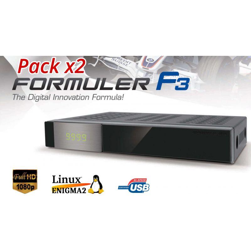 Formuler F3, receptor de satélite Linux Enigma2, 742MHz, 256Mb  Flash, 512Mb Ram