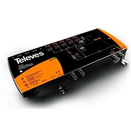 Central amplificadora DTKom MATV 3E/1S F FM-BIII-UHF Televes