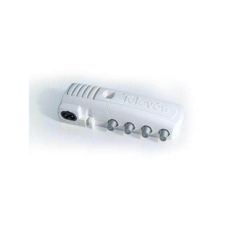 Indoor 2S amplificateurs domestiques + TV avec égaliseur passif et revenir à F connecteurs gamme de CATV (5-862 MHz) Televes