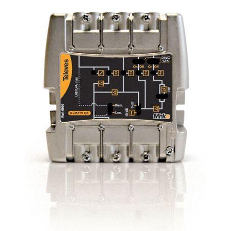 Central amplificadora Minikom 5e/1s FM-V-U 21...32-39...60/69 LTE Televes