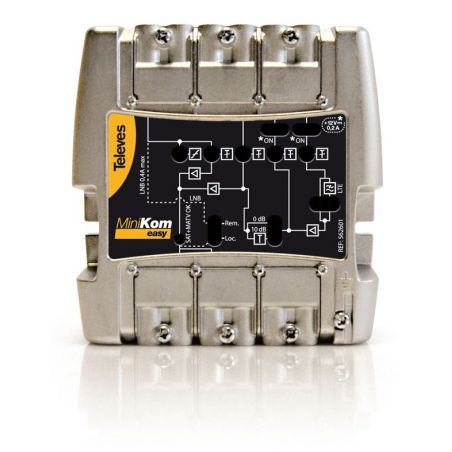 "Amplificateur série MiniKom ""Easy F"" 4e/1s FM-V-U-IF LTE Televes"