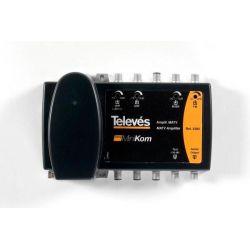 Central amplificadora Minikom BP 4e/1s BI/BIII-FM-UHF-UHF Televes