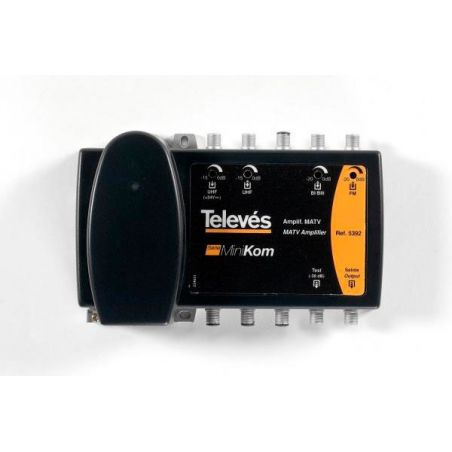 Amplifier MATV 4in/1out FM-BIII/DAB-UHF1-UHF2 Televes