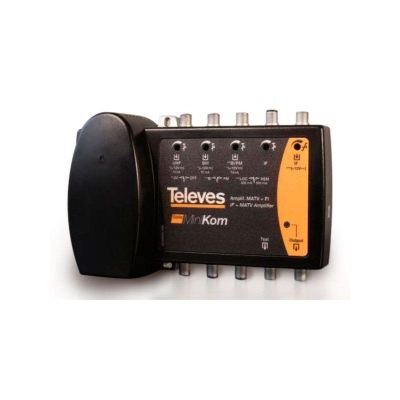 Centrale d'amplification Minikom BI/FM-BIII/DAB-UHF-FI Televes