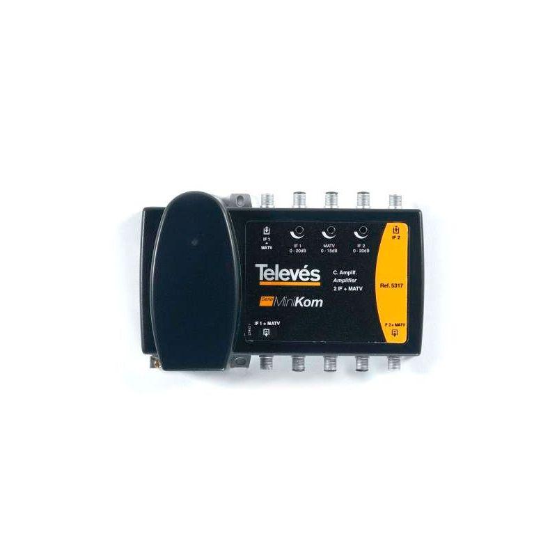 Amplificateur multibande 2e/2s 2SAT + MATV série ''Minikom'' Televes