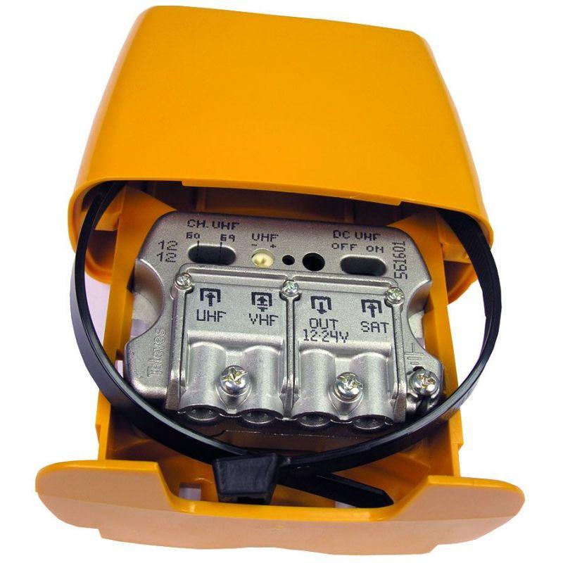 Amplificateur de mât 12..24V 3E / 1S-U-Vmix FImix FILT. AUTO LTE Televes