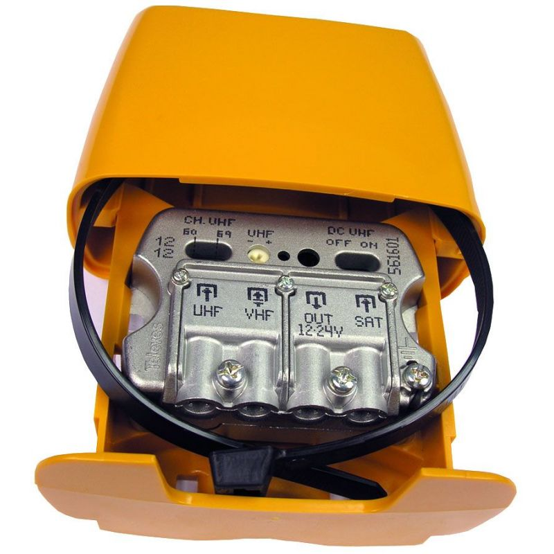 Mast amplifier 12..24V 3I/1O U-Vmix-SATmix AUTO FILT LTE Televes