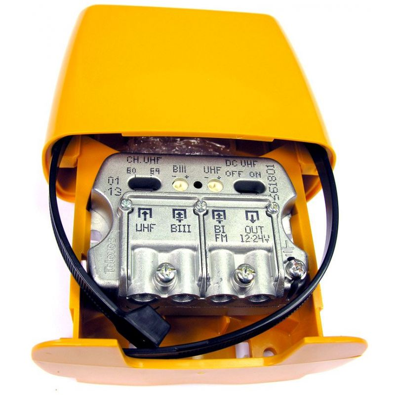 "Amplificateur de Mât NanoKom 3e/1s ""Easy F"" - BIII-UHF-FMmix LTE Televes"
