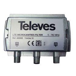 "Filtro de Microcavidades LTE ""F"" 5...782MHz Selectivo Televes"