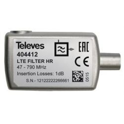 "Filtro LTE ""CEI"" 5...790MHz VHF/UHF (C21-60)selétivo, interior (Blister P) Televes"