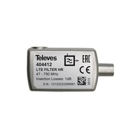 """Filtro LTE """"CEI"""" 5...790MHz VHF/UHF (C21-60) selectivo interior (Blister P) Televes Televes"""