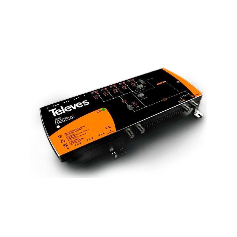 Central amplificadora DTKom 5E/1S F FM-BIII-21...35-38...60-UHF Televes LTE