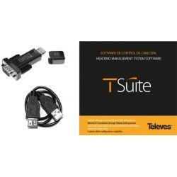 Logiciel de programmation TSuite avec Câble PC-Module+Adaptateur USB-COM Televes