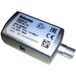 Amplificador de linea UHF 1e/1s enchufable Televes