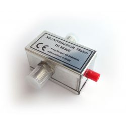 Atenuador Regulável 0-20db, 45-2400MHz (SAT+TERR), 2 F-Female