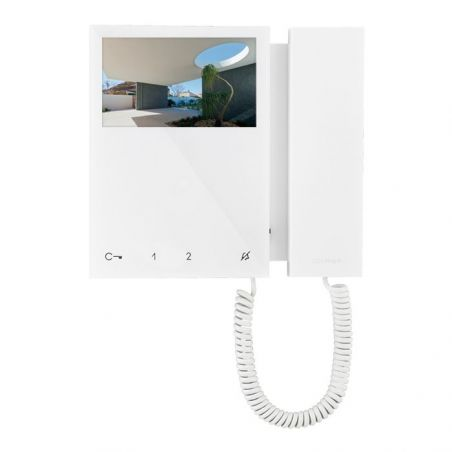 "Comelit 6701W: intercom phone with 4.3"" color monitor with SBTOP system"