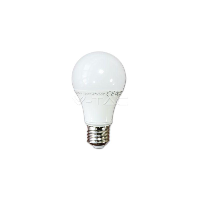 Bombilla LED 10W Е27 A60 Termoplastico Blanco natural 4500K V-TAC