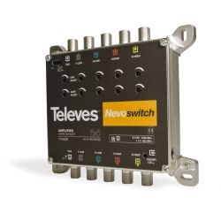 "Amplificateur 5x5 ""F"" MATV/BIS G 27/25dB Vs 115dBµV - Nevoswitch Televes"