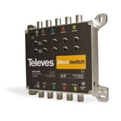 "Nevoswitch Amplifier 5x5 ""F"" MATV/BIS G 27/25dB Vo 115dBµV Televes"