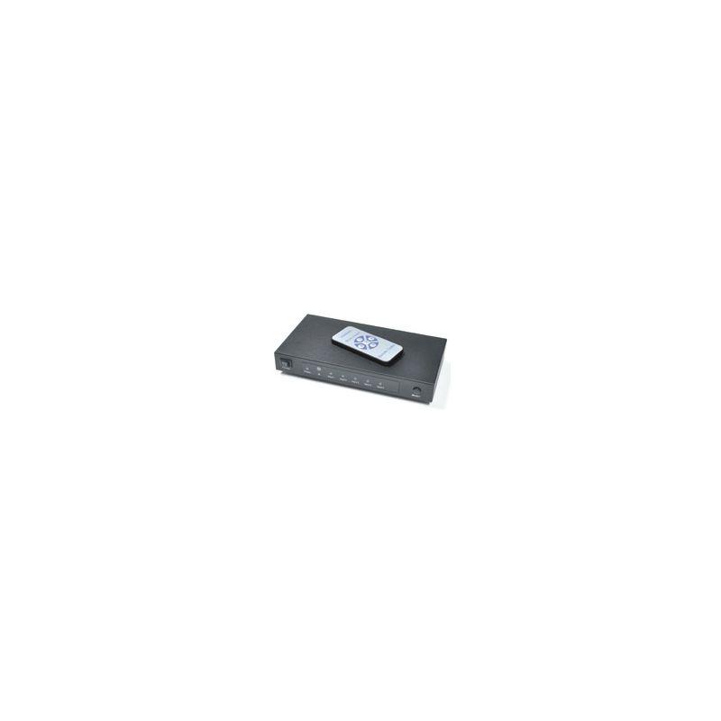 Switch HDMI 4x1 con control remoto (4 entradas 1 salida)