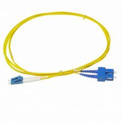 Cable de fibra óptica 3m SC a SC duplex bifibra monomodo 9/125