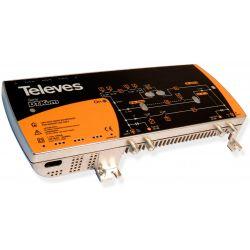 "Televés DTKom: Launch and distribution amplifier DTKom 1I/1O ""F"" RET(5..65)/MATV(1G) Vo129"