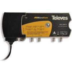 Televés MicroKom: Launch amplifier T4 RET/MATV G(-||20)/(20||25)dB