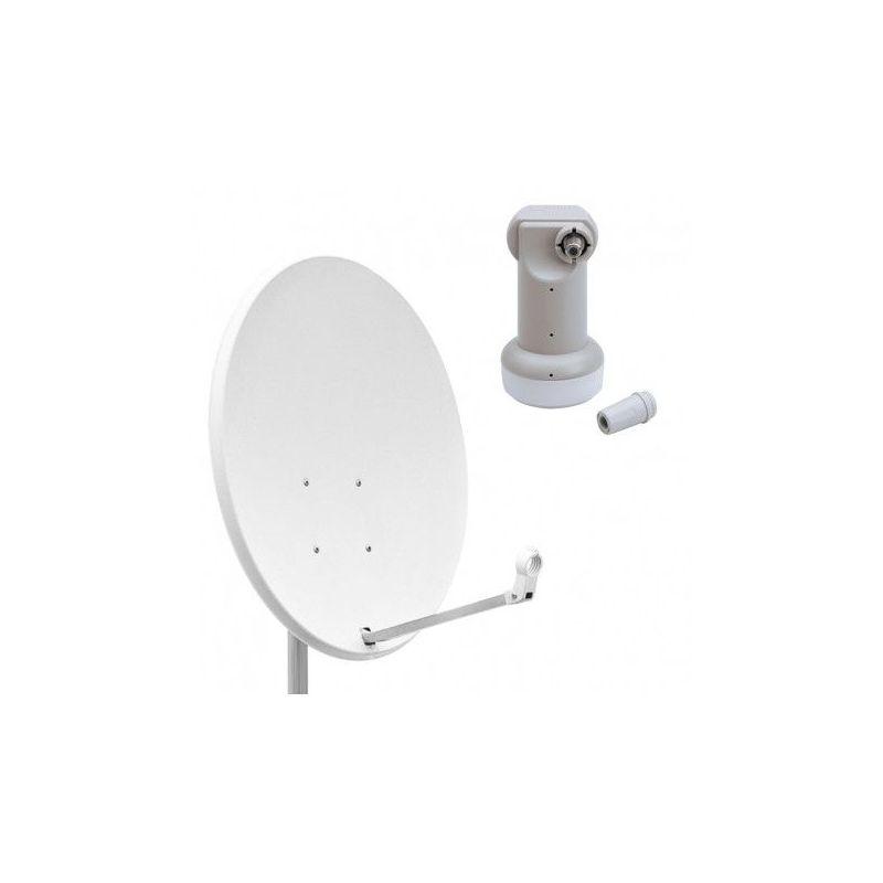 Antena Parabolica Acero Tecatel 60 cm + LNB Inverto 0.3dB alta calidad