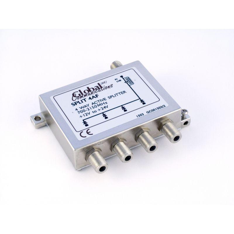 Distribuidor Splitter ACTIVO 4 Vias 700 - 2150 MHz Global Communications