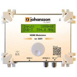 Johansson 8201: HDMI to DVB-T and ISDB-T modulator