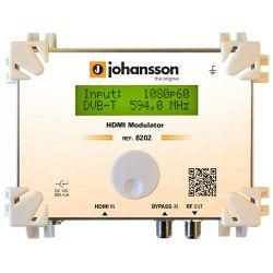 Johansson 8202: HDMI to DVB-T, DVB-C, DMB-T et ATSC modulator
