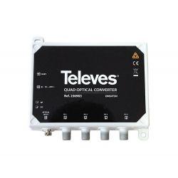 Conversor optico RF QUATTRO + FM/DAB/UHF-FI Televes