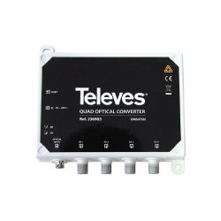 Convertisseur optique/RF QUATTRO + FM/DAB/UHF-FI Televes