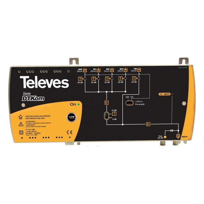Central amplificadora DTKom MATV 3E/1S F FM-BIII-UHF  Televeshttps://www.televes.com/sites/default/files/fotos/534141.jpg LTE