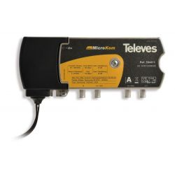 Televés MicroKom: Central amplificadora de línea T4 RET/MATV G(-||20)/(20||25)dB