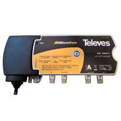 Televés MicroKom: Central amplificadora de línea T4 RET/MATV G(-  20)/(20  25)dB