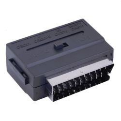 Adaptador 3 RCA a Euroconector con interruptor E/S