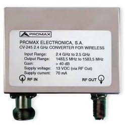Promax CV-245: 2.4 GHz band converter
