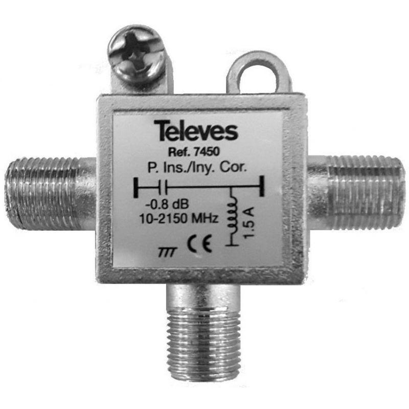 Televes 7450: Injecteur de courant pour antenne et alimentation LNB