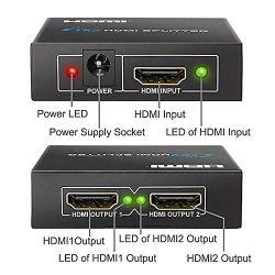 Distribuidor Splitter HDMI 1x2 (1 entrada 2 salidas) 3Dfull