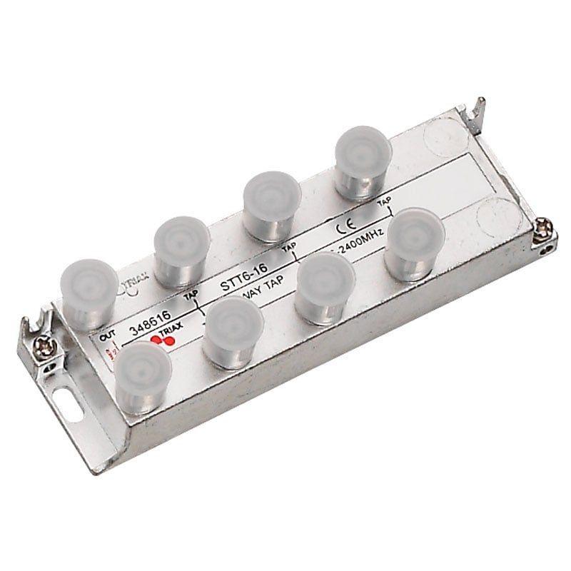 Derivador 6 salidas (Conector F) 16db STT 6-16