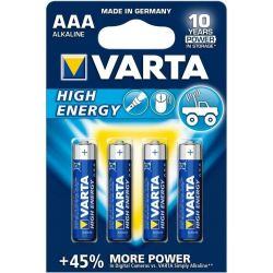 Varta High Energy LR03 Bateria AAA 1.5V 4pcs