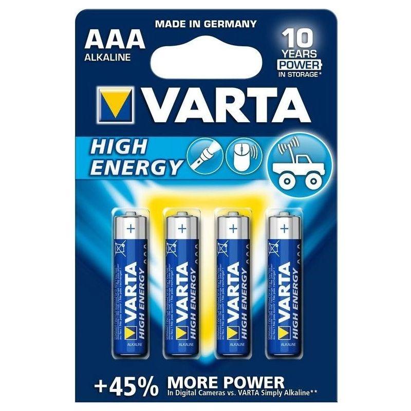 Pilas alcalinas AAA Varta High Energy LR03 1.5V 4pcs