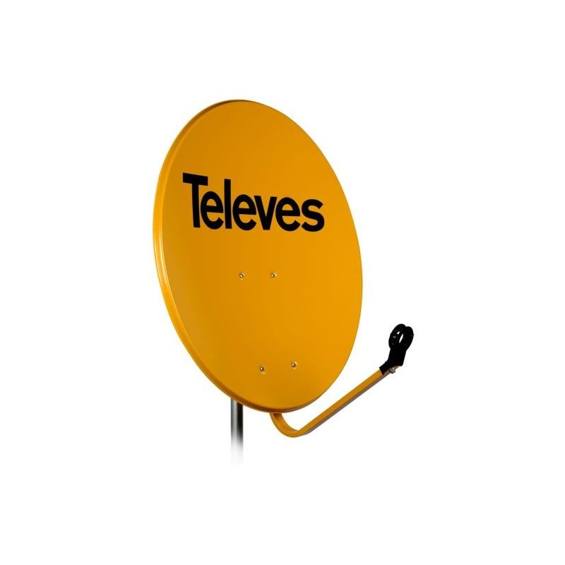 Antena parabólica Offset Televes 100cm Acero 40dB Naranja